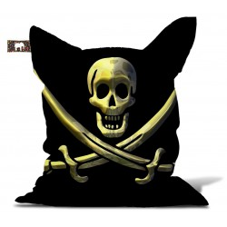 Pouf drapeau pirate