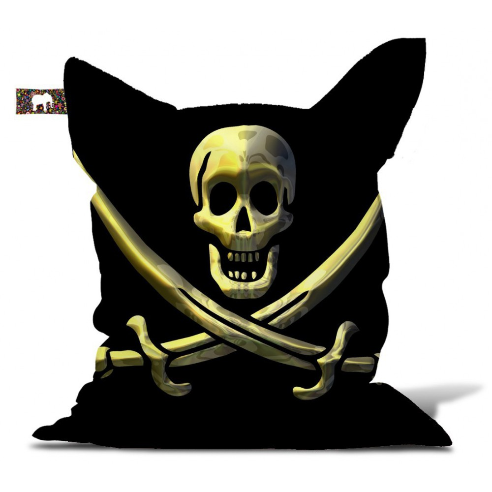 Pouf drapeau pirate
