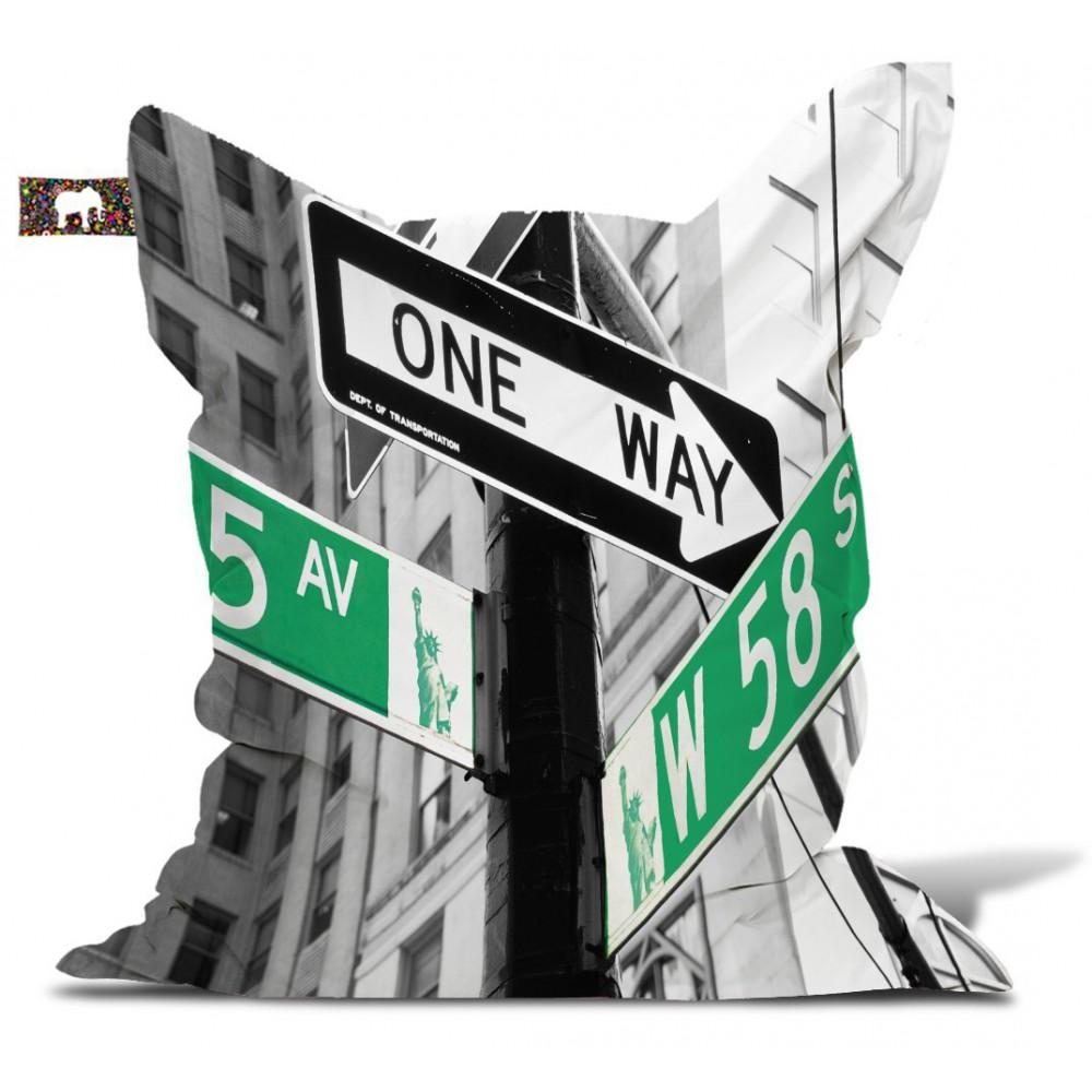 "Pouf New york ""One way"""