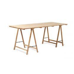 Table en bois tréteaux