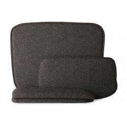 Chaise fil de fer avec accoudoirs kit confort gris foncé