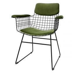 Kit coussins velours vert pour chaise HK Living