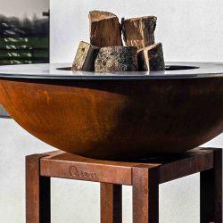 Brasero plancha pour cuisson au feu de bois