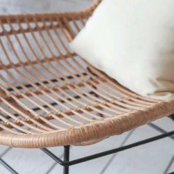 Chaise en bambou et acier