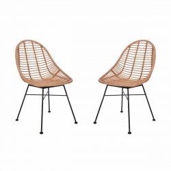 Deux chaises de jardin bambou