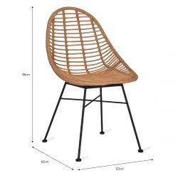 Chaises jardin bambou et acier