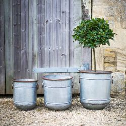 Lot de 3 jardinière en acier