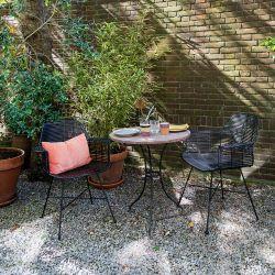 Chaise extérieur rotin noir
