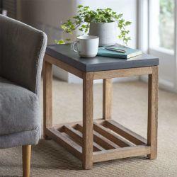Table en bois et ciment