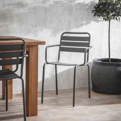Pair de fauteuils gris...