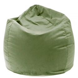 Pouf Jumbo Bag velours kaki