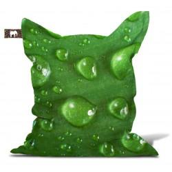 Pouf vert gouttes d'eau