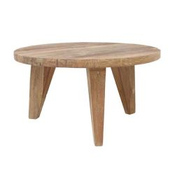 Table ronde en bois brut
