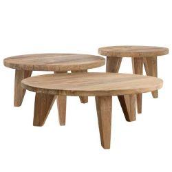 table basse ronde en teck
