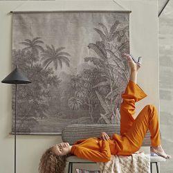 Tableau mural coton jungle