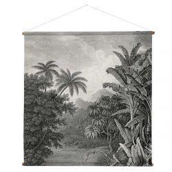 Tableau bohème imprimé coton jungle
