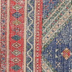 Tapis orientale rouge et bleu