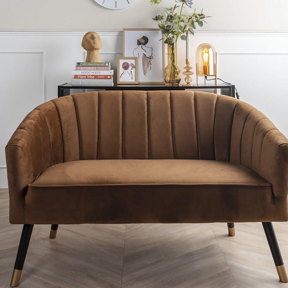 Sofa deux places velours royal