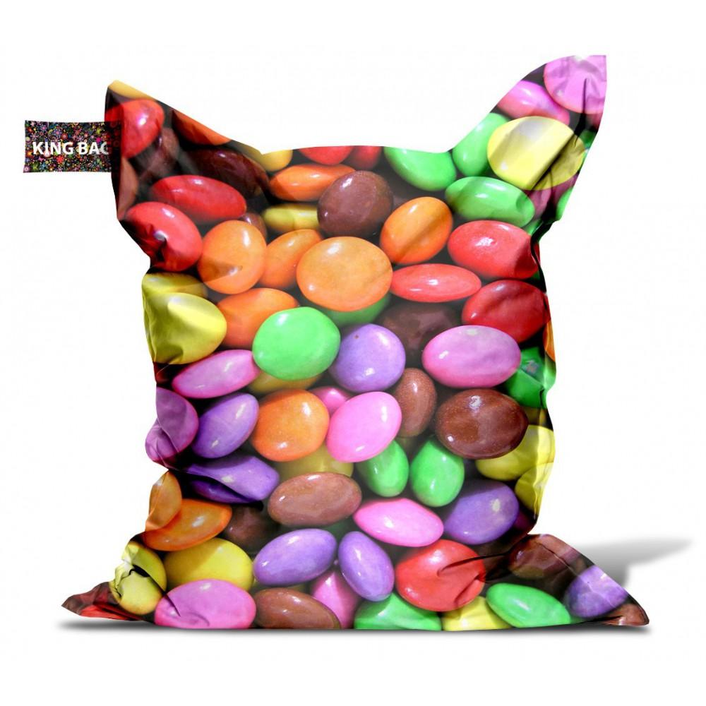 Pouf géant multicolore bonbons