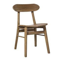Chaise en bois brut de type bistrot