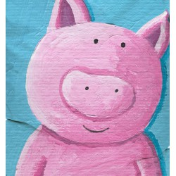 Pouf cochon rose