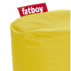 Pouf point jaune Fatboy