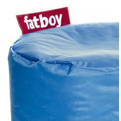 Pouf point Fatboy bleu pétrole