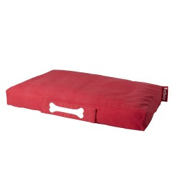 Coussin chien rouge